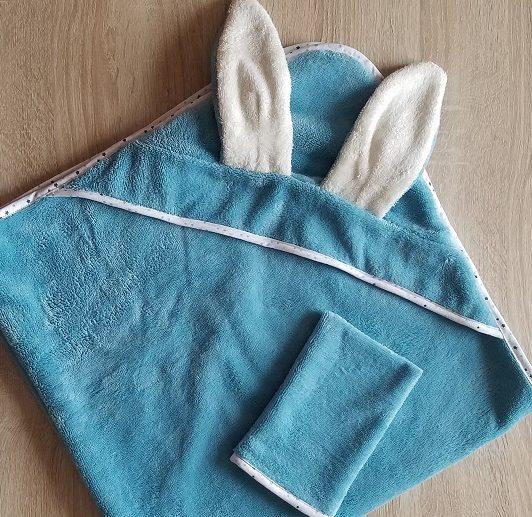 L'atelier de Béryl - tutoriel couture - Cape de bain Lapin et son gant