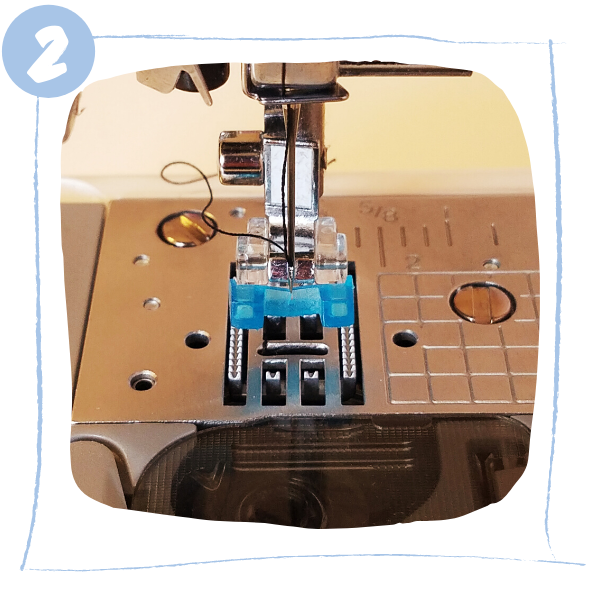 L'atelier de Béryl - comment coudre un bouton à la machine à coudre