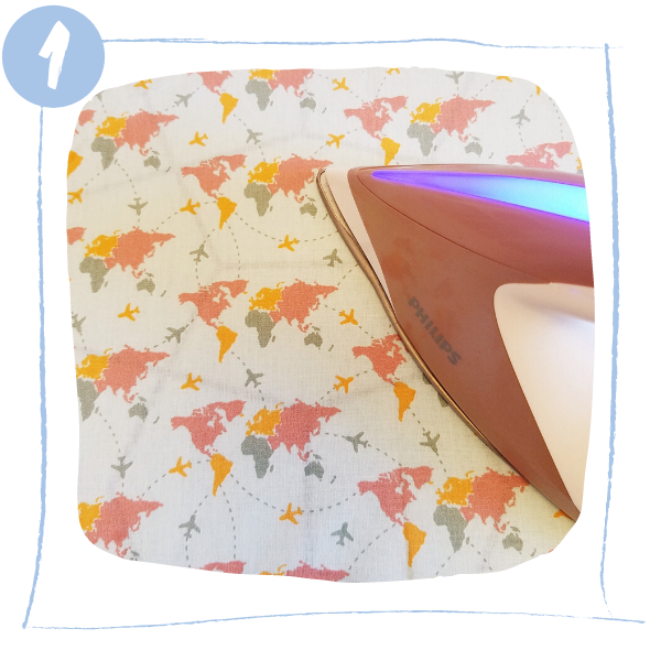 L'Atelier de Béryl - Tutoriels pour Quiet Books - Blog - Page baskets - étape 1 - nettoyage du tissu
