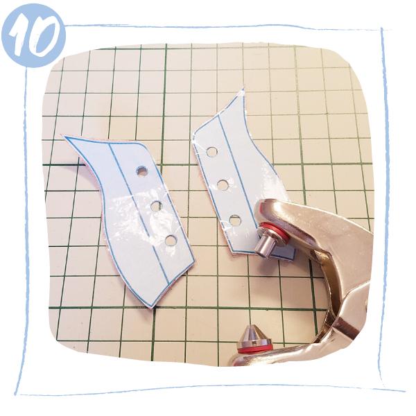 L'Atelier de Béryl - Tutoriels pour Quiet Books - Blog - Page baskets - étape 10 - perforation patrons