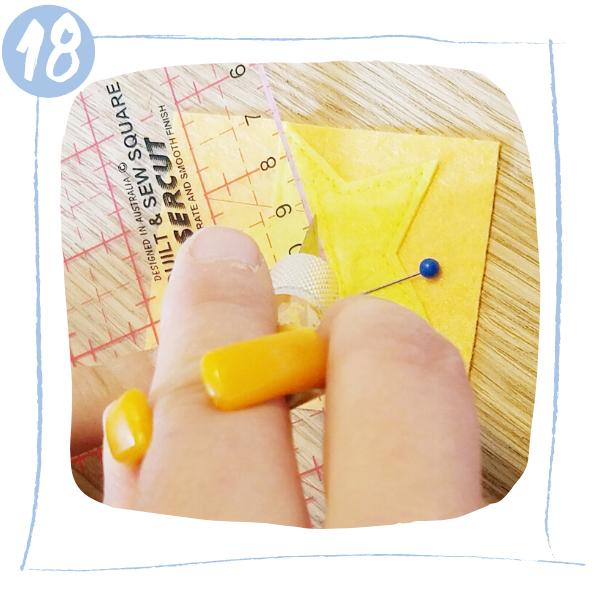 L'Atelier de Béryl - Tutoriels pour Quiet Books - Blog - Page formes géométriques - étape 18 - découpe boutonnière