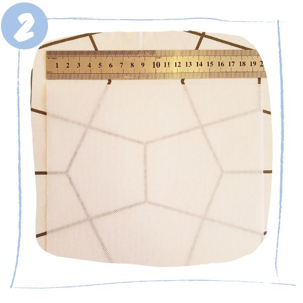 L'Atelier de Béryl - Tutoriels pour Quiet Books - Blog - Page formes géométriques - étape 2 - découpe Vlieseline