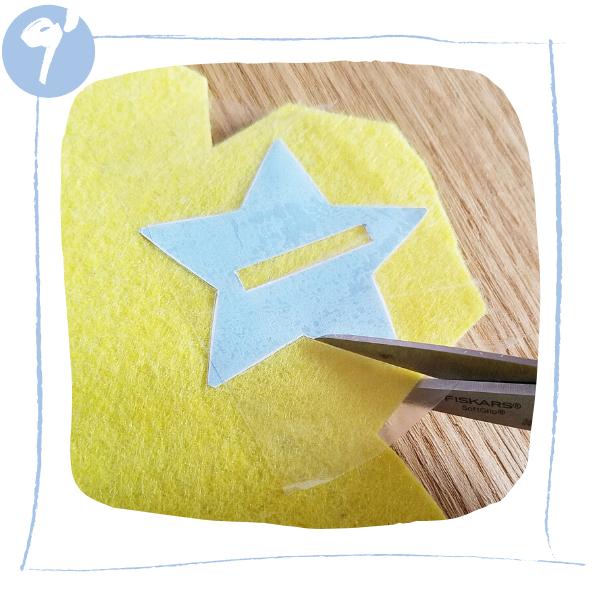L'Atelier de Béryl - Tutoriels pour Quiet Books - Blog - Page formes géométriques - étape 9bis - découpe ciseaux