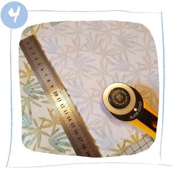 L'Atelier de Béryl - Tutoriels pour Quiet Books - Blog - Page ecureuil - étape 4 - découpe de la page