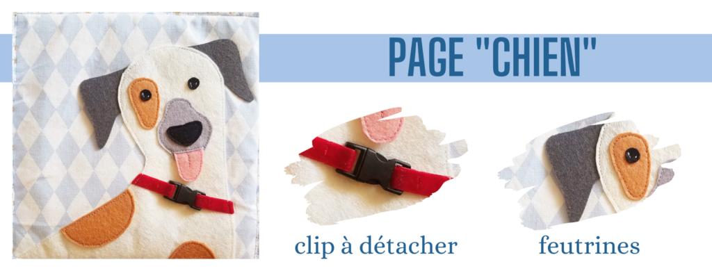 L'Atelier de Béryl - Création de Quiet Book sur mesure - Catalogue - Page 04 chien