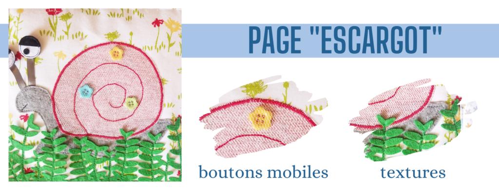 L'Atelier de Béryl - Création de Quiet Book sur mesure - Catalogue - Page 06 escargot