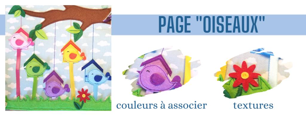 L'Atelier de Béryl - Création de Quiet Book sur mesure - Catalogue - Page 08 oiseaux