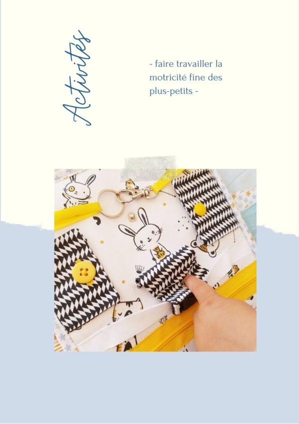L'Atelier de Béryl - Comment coudre mes Quiet books - page activités