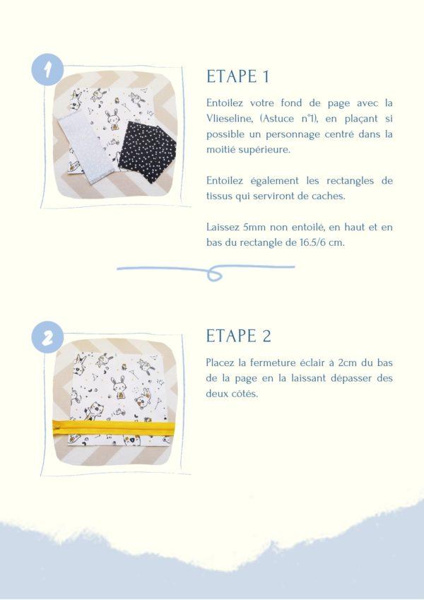L'Atelier de Béryl - Comment coudre mes Quiet books - page activtié démo 1