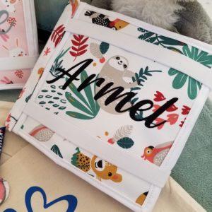 L'Atelier de Béryl - Quiet book - livre activité feutrine - reliure velcro - Armel