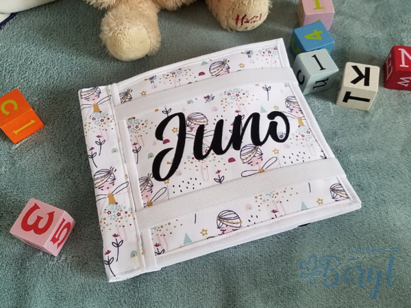 L'Atelier de Béryl - Quiet book personnalisé - Juno - naissance