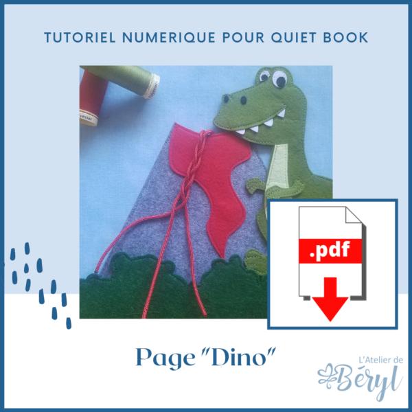L'Atelier de Béryl - Tutoriel numérique - page Dino
