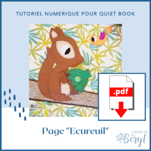 L'Atelier de Béryl - Tutoriel numérique - page Ecureuil