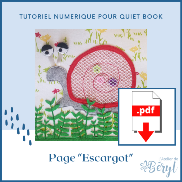 L'Atelier de Béryl - Tutoriel numérique - page Escargot