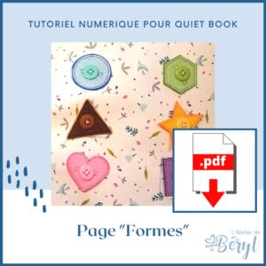 L'Atelier de Béryl - Tutoriel numérique - page Formes
