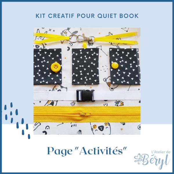 Kits - Livre activité Quiet book - Page Activités
