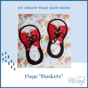Kits - Livre activité Quiet book - Page Baskets