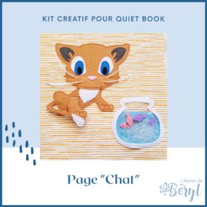 Kits - Livre activité Quiet book - Page Chat