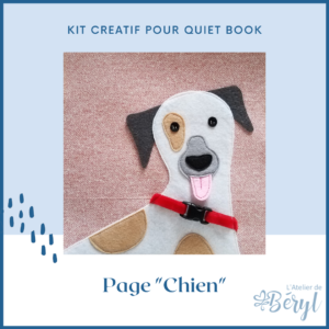 Kits - Livre activité Quiet book - Page Chien