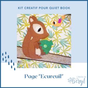 Kits - Livre activité Quiet book - Page Ecureuil