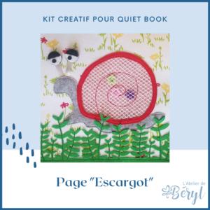 L'Atelier de Béryl - Kits - Plaquette - Page Escargot