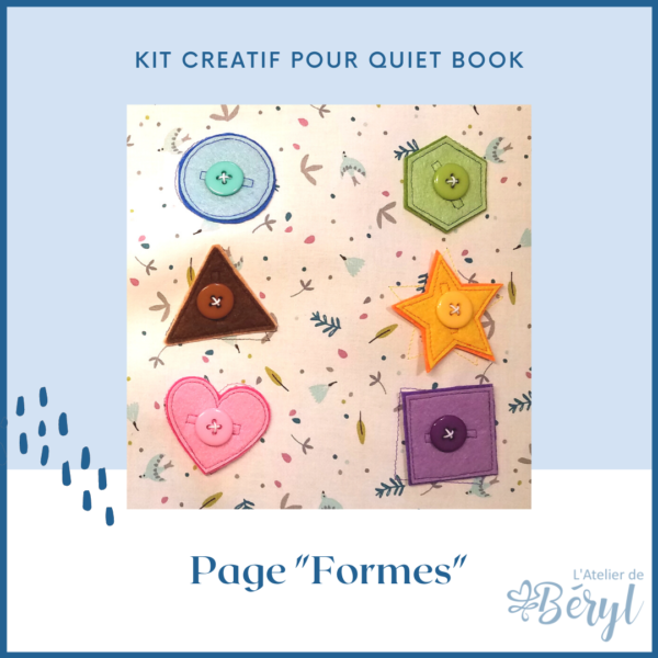 L'Atelier de Béryl - Kits - Plaquette - Page Formes