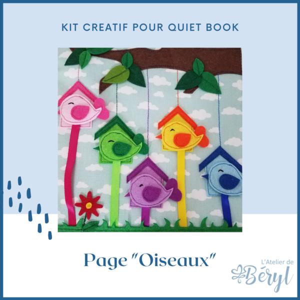 Kits - Livre activité Quiet book - Page Oiseaux