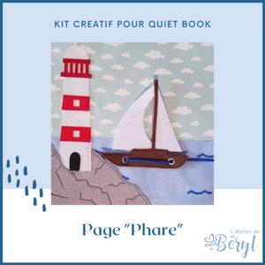Kits - Livre activité Quiet book - Page Phare