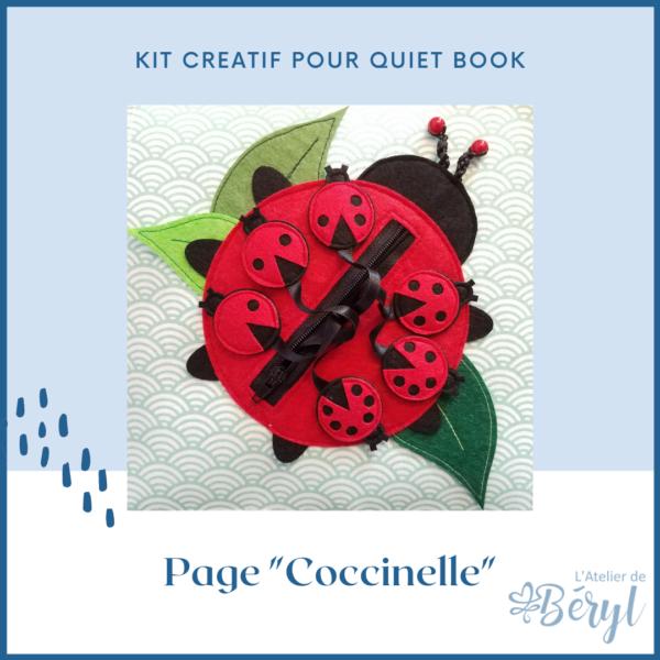 L'atelier de Béryl - Kits - Livre activité Quiet book - Page Coccinelle