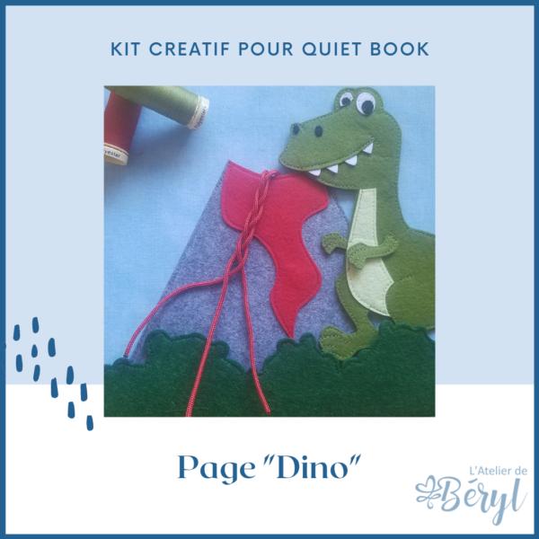 Kits - Livre activité Quiet book - Page Dino
