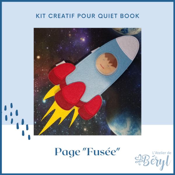 Kits - Livre activité Quiet book - Page Fusée