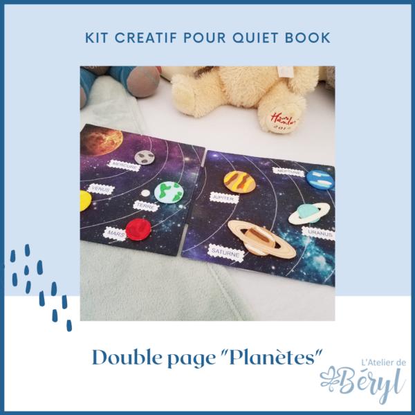L'Atelier de Béryl - Kits - Plaquette - 016 Page Planètes