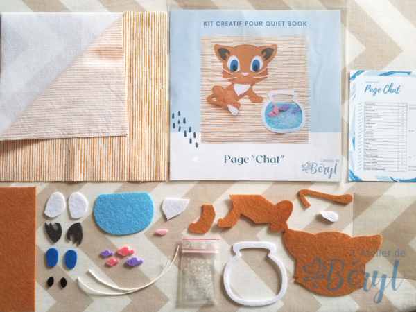 L'Atelier de Béryl - Kits créatifs de pages pour Quiet books