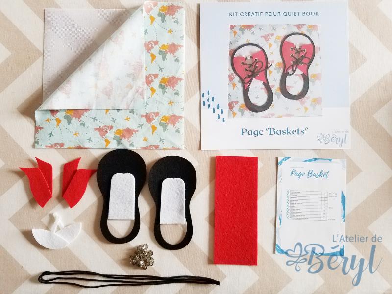 L'Atelier de Béryl - Kits créatifs de pages pour Quiet books - Page Baskets