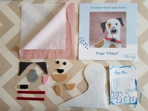 L'Atelier de Béryl - Kits créatifs de pages pour Quiet books - Page Chien