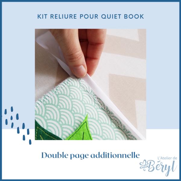 L'Atelier de Béryl - Livre d'activité Quiet book - Kit de reliure (double page)
