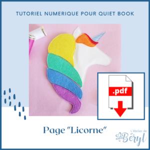 L'Atelier de Béryl - Tutoriel numérique - page Licorne