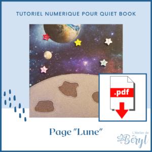 L'Atelier de Béryl - Tutoriel numérique - page Lune