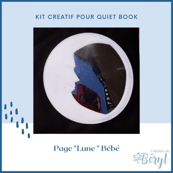 L'Atelier de Béryl - Kits - Plaquette - 022 Page BB Lune