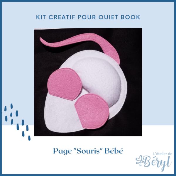 L'Atelier de Béryl - Kits - Plaquette - 023 Page BB Souris