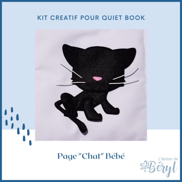 L'Atelier de Béryl - Kits - Plaquette - 026 Page BB Chat