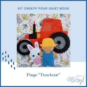 L'Atelier de Béryl - Quiet book - doudou livre - Kits - Plaquette - 028 Page Tracteur