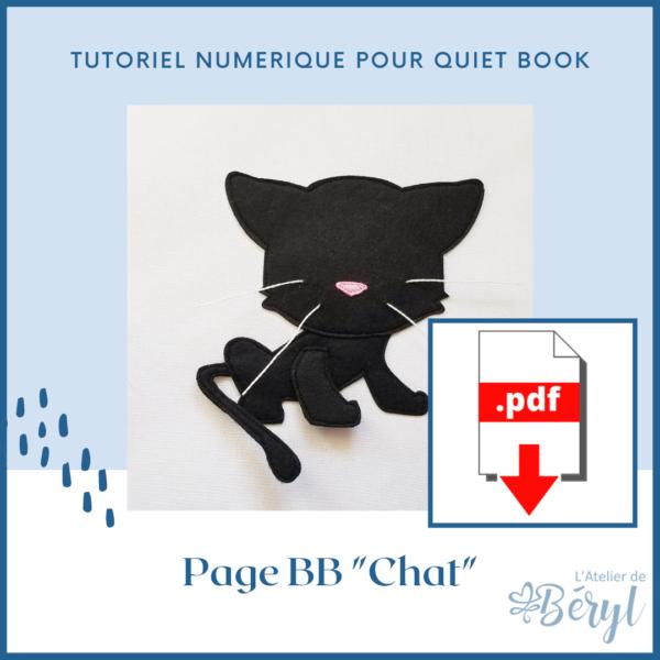 L'Atelier de Béryl - Tutoriel pour Quiet book - Page BB _Chat_