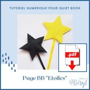 L'Atelier de Béryl - Tutoriel numérique - Quiet book - Page BB _Etoiles_