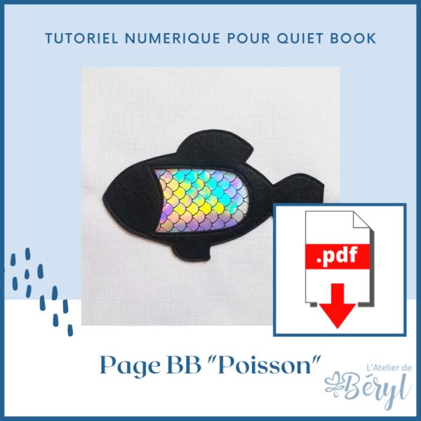 L'Atelier de Béryl - Livre Calme - Livre activités pour bébé - Page BB _Poisson_
