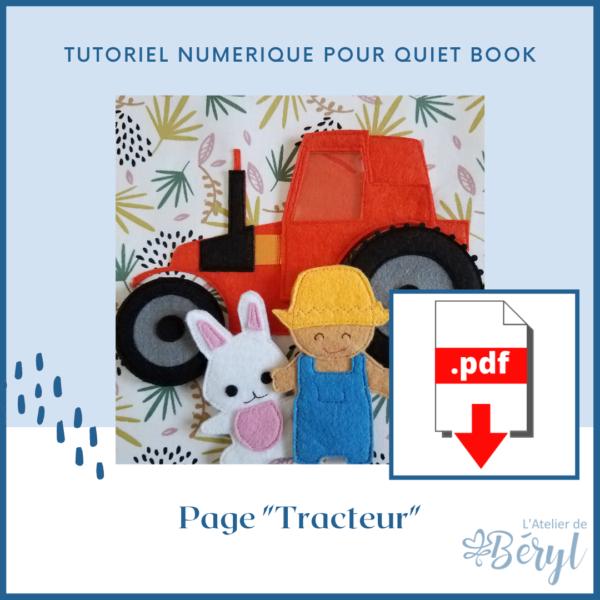 L'Atelier de Béryl - Tutoriel numérique - Quiet book - Tracteur Fermier Lapin